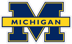 Amazon Com University Of Michigan Vinyl Decal Wall Art Any Size Football Michigan Wolverines Car Bumper Stickers 4 X6 Kitchen Dining