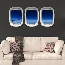 East Urban Home 3 Piece Airplane Window View Wall Decal Set Wayfair