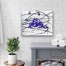 Wall Art Tcu Horned Frog Original Signed Art On Canvas Poshmark