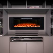 wall hung designer electric fireplace