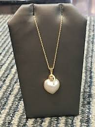 vintage 14k yellow gold mabe pearl
