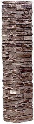 Nextstone Polyurethane Faux Stone Post Cover Slatestone 1pc Sleeve Brunswick Brown Amazon Com