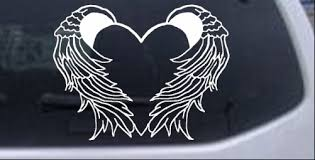 Heart With Wings Decal Car Or Truck Window Decal Sticker Rad Dezigns