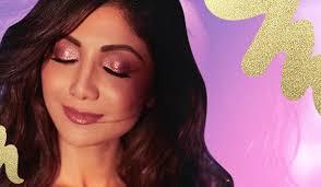 glitter makeup goals courtesy shilpa shetty