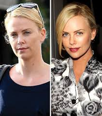 the true no makeup face of charlize theron