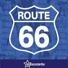 Route 66 Decal Interstate Sign Sticker Car Window Truck Vinyl Eccentric Mall