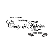 8380 A Girl Should Be Classy And Fabulous Quote Wall Stickers Flower V Elleseal