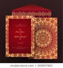 hindi wedding card stock images