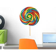 Amazon Com Wallmonkeys Colorful Lollipop Wall Decal Peel And Stick Graphic Wm59190 18 In H X 14 In W Home Kitchen