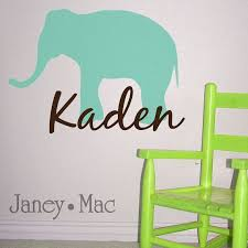 I Know Cole S Room Isn T On The To Do List But Thought This Vinyl Wall Decal Was Cute And If You E Elephant Wall Decals Vinyl Wall Decals Baby Nursery Decals