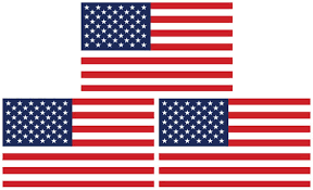 Amazon Com Securepro Products 3 Pack Large 4 X 6 Rectangular United States American Flag Decal Stickers Premium Quality Heavy Duty 3m Usa Vinyl Die Cut Screen Printed Adhesive On Back Kitchen