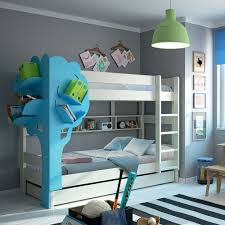 Mathy By Bols Dominique Triple Bunk Bed With Tree Bookcase Mathy By Bols Cuckooland