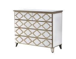 venetian mirrored 5 drawer chest