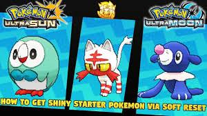 How to Get Shiny Starter Pokemon in Pokemon Ultra Sun and Pokemon ...