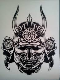 Samurai Mask Vinyl Sticker Decals Ebay