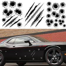 1pcs 23 29cm Funny Car Stickers 3d Bullet Hole Car Styling Accessories Motorcycle Scratch Car Stickers And Decals Car Sticker Body Car Stickers For Windowscar Mp3 Player Kit Aliexpress