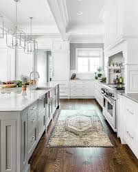 yellow and gray vintage kitchen rug