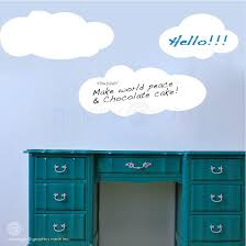 Cartoon Clouds Dry Erase Memo Wall Decal Erasable Surface Graphics Graphicsmesh