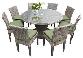 round glass top patio dining set