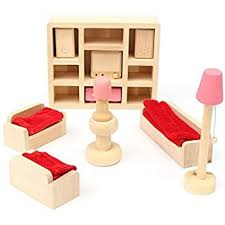 Amazon Com Glamorway Baby Kids Play Pretend Toy Design Wooden Doll Furniture Dollhouse Miniature Toy Children Gifts For Lounge Room Furniture Decor