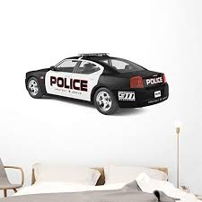 Amazon Com Wallmonkeys Police Car Wall Decal Peel And Stick Decals For Boys 60 In W X 34 In H Wm28955 Home Kitchen