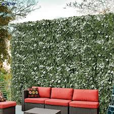 Amazon Com Windscreen4less Artificial Faux Ivy Leaf Decorative Fence Screen 4 X 12 Ivy Leaf Decorative Fence Screen Garden Outdoor