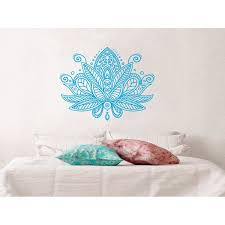 Lotus Flower Wall Decal Yoga Studio Vinyl Sticker Mandala Decals Bedroom Walmart Com Walmart Com