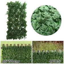Artificial Green Ivy Leaf Privacy Fence Screen Cover Home Panels Wall Gate Decor Ebay