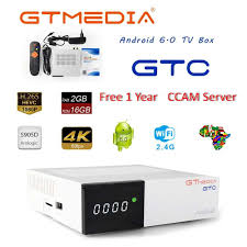 GTMEDIA GTC 4K Android TV Box Receptor DVB C Cable Youtube DVB S2 ...