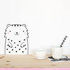 Tofu The Tiger Animal Wall Sticker Small Made Of Sundays