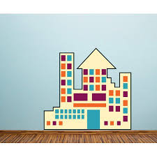 Building Wall Decal Vinyl Decal Car Decal Idcolor004 25 Inches Walmart Com