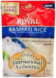 royal basmati rice 8 oz nutrition