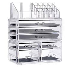 clear acrylic makeup organizer drawers