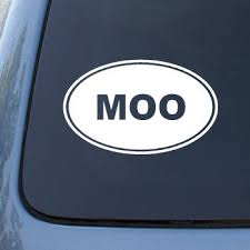Moo Cow Farm Vinyl Car Decal Sticker 1542 Vinyl Color White Daniel C Andersonet