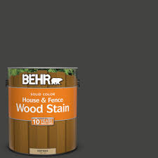 Behr 1 Gal Sc 102 Slate Solid Color House And Fence Exterior Wood Stain 03001 The Home Depot