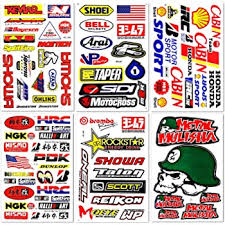 Amazon Com Racing Gear Decal Sticker Mx Motocross Dirt Bike Atv 2 Sheets R203 By Rockstar Automotive