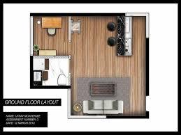 one studio apartment design floor plan