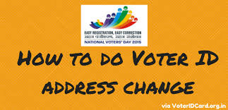 voter id address change how to do