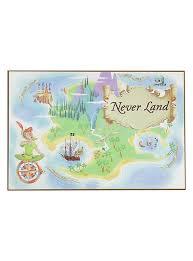 Disney Peter Pan Never Land Map Wood Wall Art
