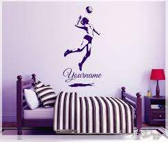 Volleyball Wall Art Woman Volleyball Decal Custom Name Girl Silhouette Bedroom Decor Personalized Vinyl Sticker Volley Ball Player In 2020 Personalised Vinyl Stickers Wall Decor Decals Wall Decals
