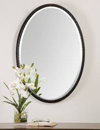 oil rubbed bronze oval wall mirror