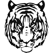 Tribal Tiger Animal Zoo 5 Vinyl Decal Sticker