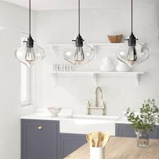 b 3 light kitchen island