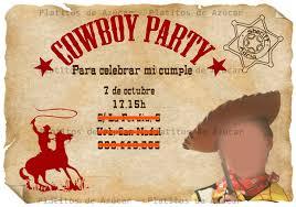 Vaqueros Tarjeta De Invitacion Jpg 2 480 1 746 Pixeles Fiestas