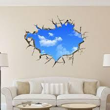 Creative 3d Blue Sky Cloud Wall Sticker Great Home Decor Fashion Home Garden Homedcor Decalss Wall Stickers Bedroom Wall Decor Stickers Wall Stickers Home