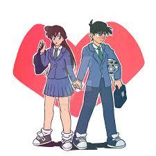Detective Conan - Ran and Shinichi by EvielHunter on DeviantArt