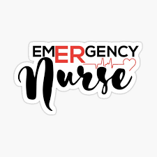 Er Nurse Stickers Redbubble