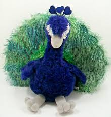 "Aurora Perry the Peacock Plush 8"" Blue Green Stuffed Animal | eBay"