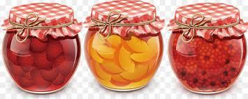 Marmelade Beizen Frühstück Konfitüren - Hand-bemalt Glas-jam jar ...
