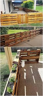 Reused Pallet Fence Pallet Fence Diy Pallet Fence Fence Design